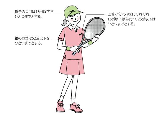 服装規定 ●Tシャツ不可(テニスウェアとして、スポーツメーカー販売のものは可) ●アームカバーは